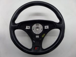3 Spoke Sport Leather Steering Wheel Black