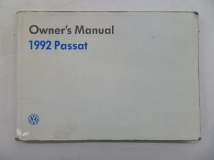 1992 Owners Manual