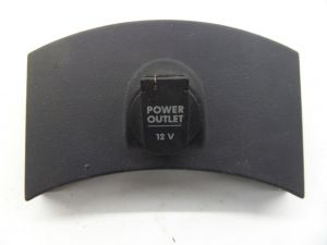 12V Power Outlet Dash Trim Black
