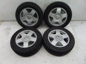 """VW Jetta 15"""" Golf Wheels MK6 11-14 OEM 5 x 100 Good Tires"""