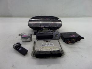 03-05 VW MK4 Golf GTI 24V VR6 Key Set 189K KMS KPH Cluster Ignition Lock M/T