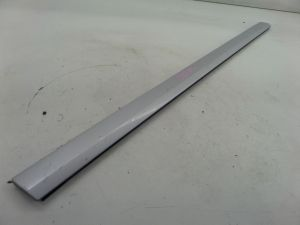 Audi A3 Left Front Lower Door Blade Molding Silver 8P 06-08 OEM Chipped Edge